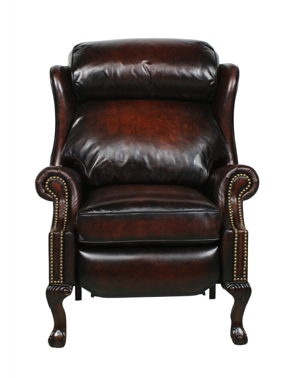 Danbury ll Vintage reserve Leather Recliner - Bordeaux - Barcalounger