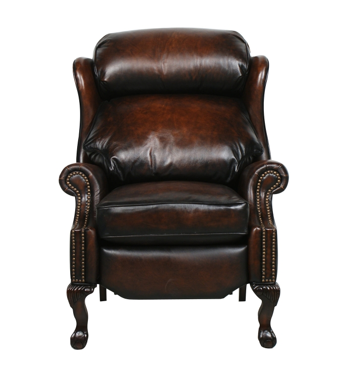 Danbury ll Vintage reserve Leather Recliner - Coffee - Barcalounger