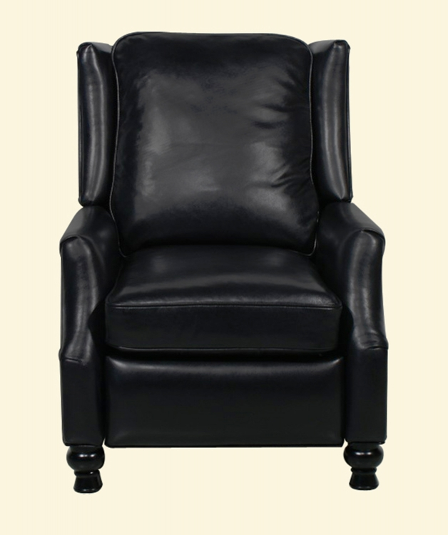 Ashton ll Vintage Reserve Leather Recliner - Black - Barcalounger