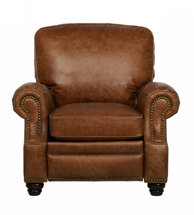 Longhorn ll Vintage Reserve Leather Recliner - Saddle - Barcalounger
