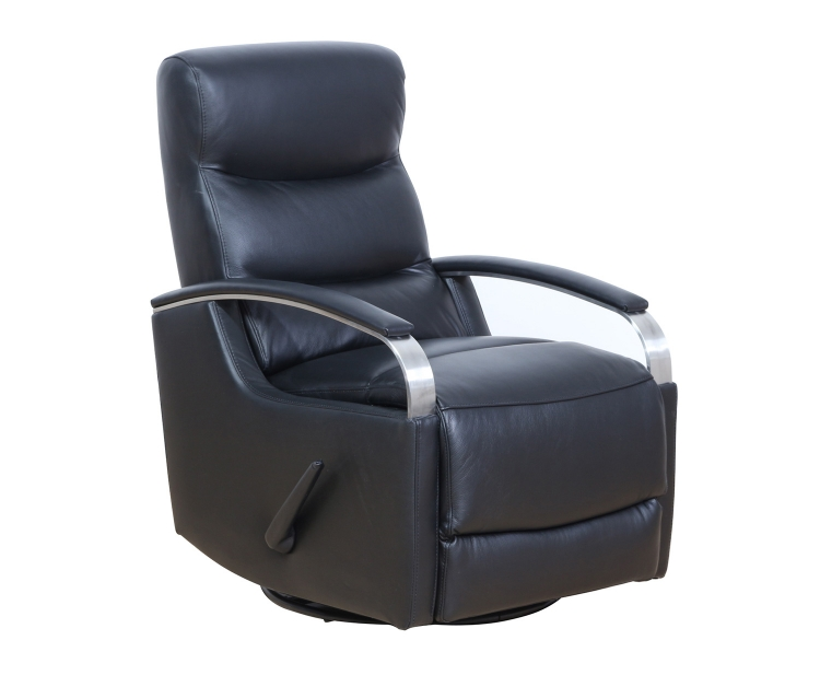 Shadow Swivel Glider Recliner Chair - Apollo Onyx/Leather Match