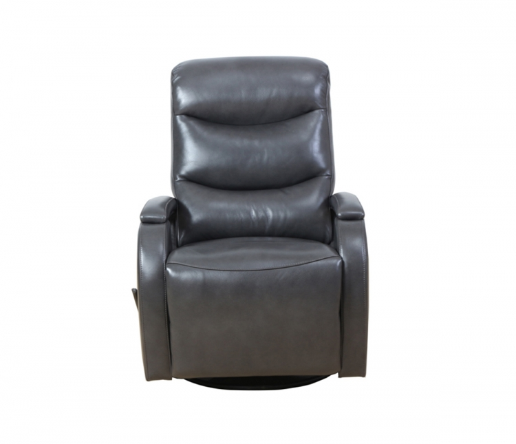 Fallon Swivel Glider Recliner Chair - Ryegate Gray/leather match