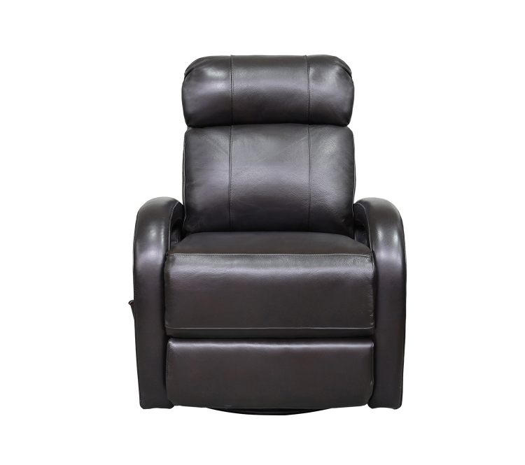 Harvey Swivel Glider Recliner Chair - Shoreham Fudge/all leather