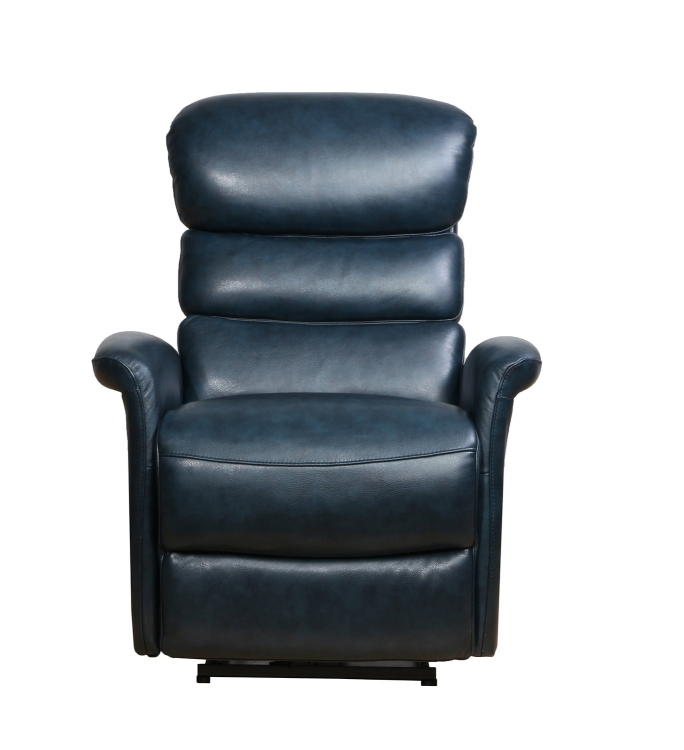 Kelso Power Recliner Chair with Power Head Rest - Ryegate Sapphire Blue/Leather Match
