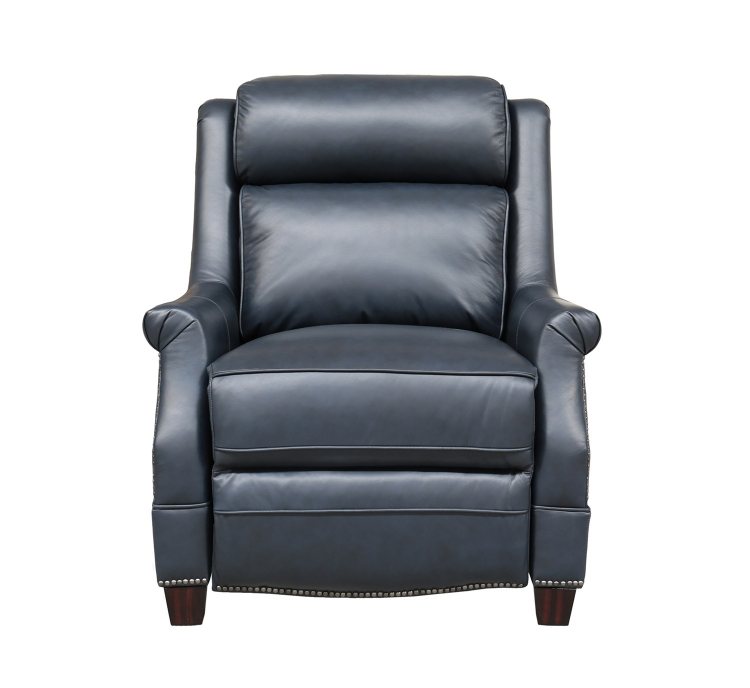Warrendale Power Recliner Chair with Power Head Rest - Shoreham Blue/All Leather