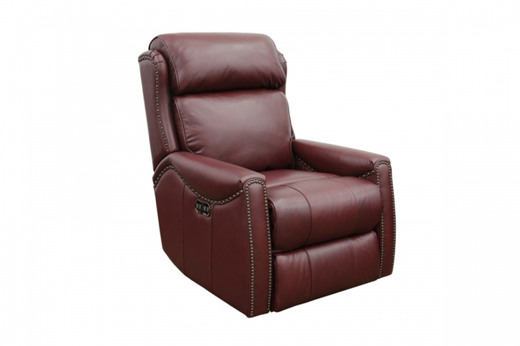 Montana Power Recliner Chair with Power Head Rest - Shoreham Wine/all leather
