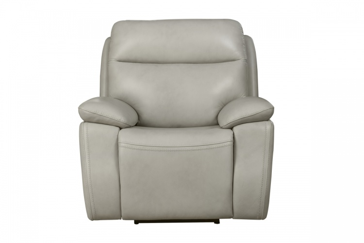 Micah Power Recliner Chair with Power Head Rest - Venzia Cream/Leather Match