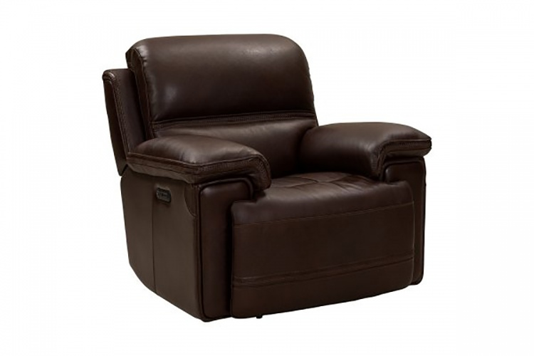 Sedrick Power Recliner Chair with Power Head Rest - El Paso Walnut/Leather Match