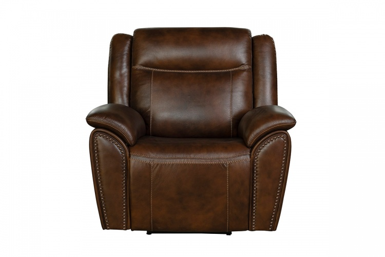 Holbrook Power Recliner Chair with Power Head Rest and Lumbar - Venzia Brown/Leather Match
