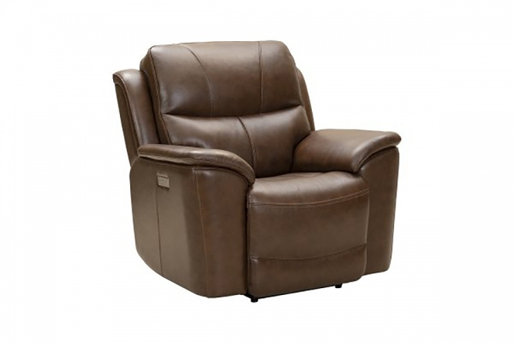Kaden Power Recliner Chair with Power Head Rest and Lumbar - Jarod Brown/Leather Match