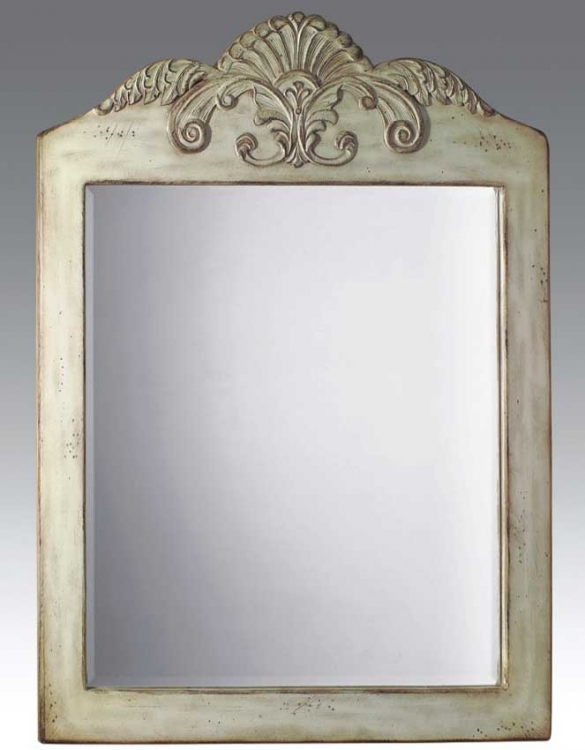 Walton Mirror Antique White-Dragon Wood