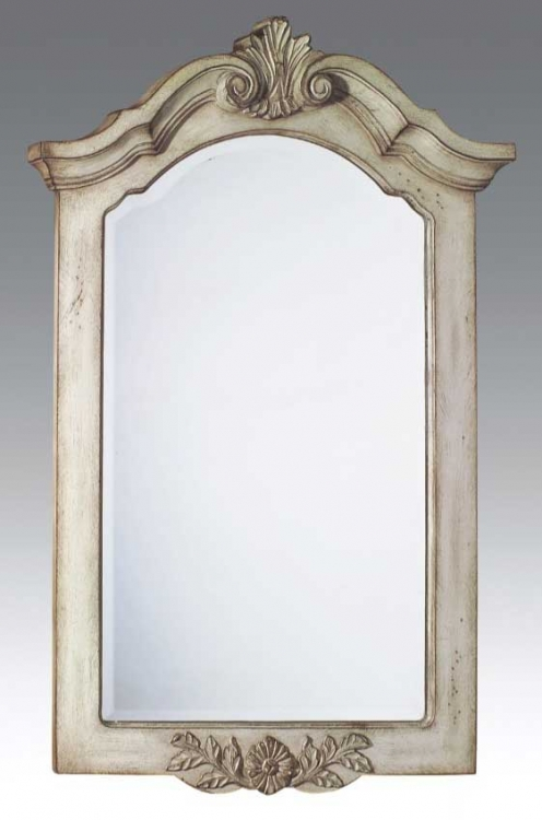 Mirror Antique White-Dragon Wood