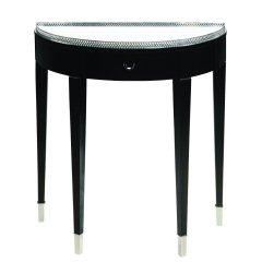 Black Tie Hall Table - Traditional Accents