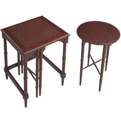Mindoro Nesting Tables - Traditional Accents