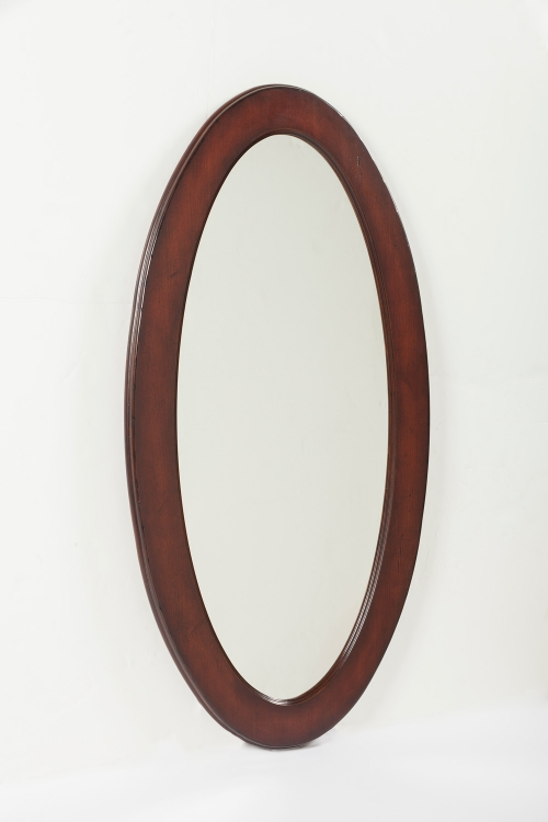 0167024 Plantation Cherry Oval Mirror