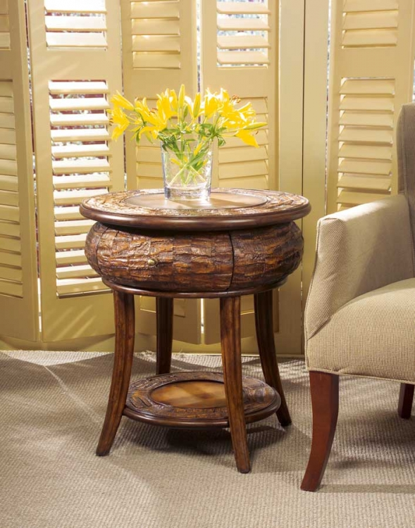 0232035 Designer's Edge Round End Table - Butler