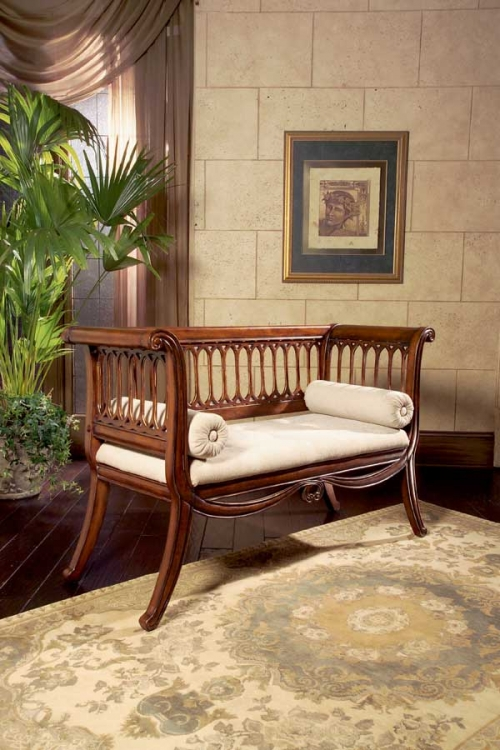 0284011 Antique Cherry English Settee