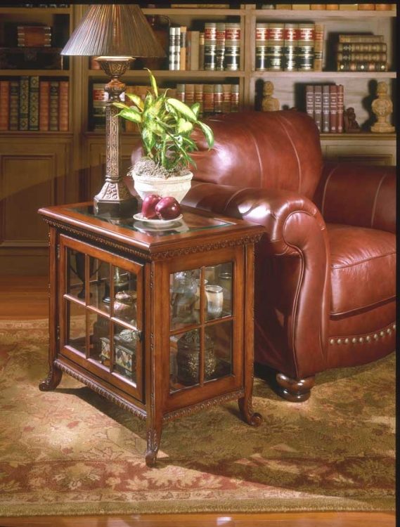 0339024 Plantation Cherry Side Chair Curio - Butler