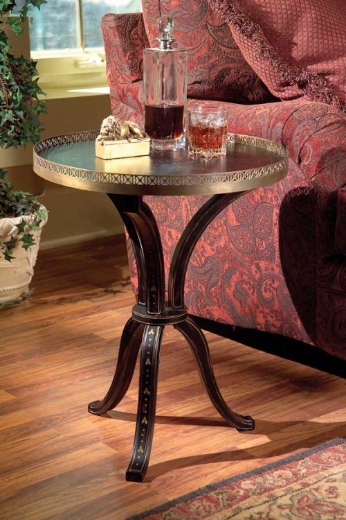 0531095 Distinctive Hand Painted Accent Table