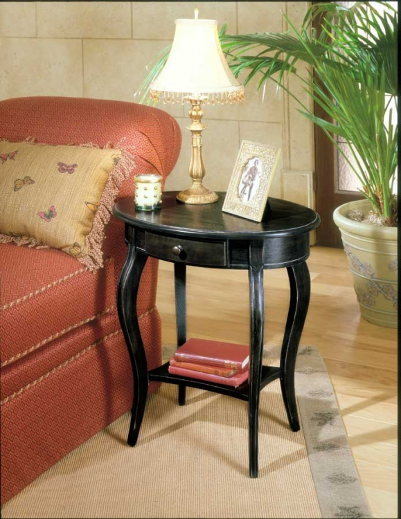 0532005 Brushed Sable Oval Accent Table - Butler