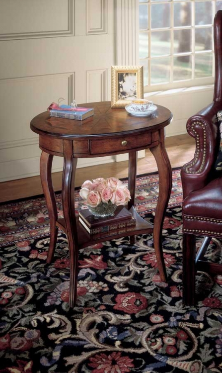 0532024 Plantation Cherry Oval Accent Table - Butler