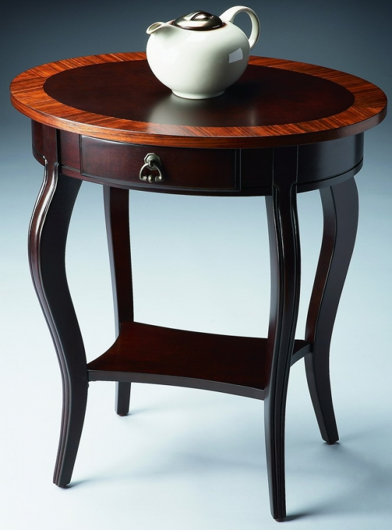 532211 Cherry Nouveau Oval Accent Table