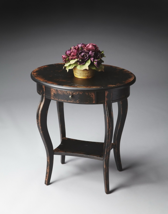 0532250 Midnight Rose Oval Accent Table - Butler