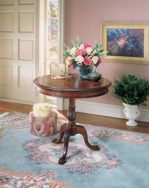 0533024 Plantation Cherry Round Pedestal Table - Butler