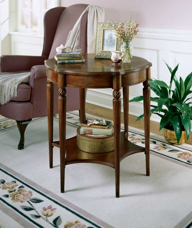 0557024 Plantation Cherry Accent Table - Butler