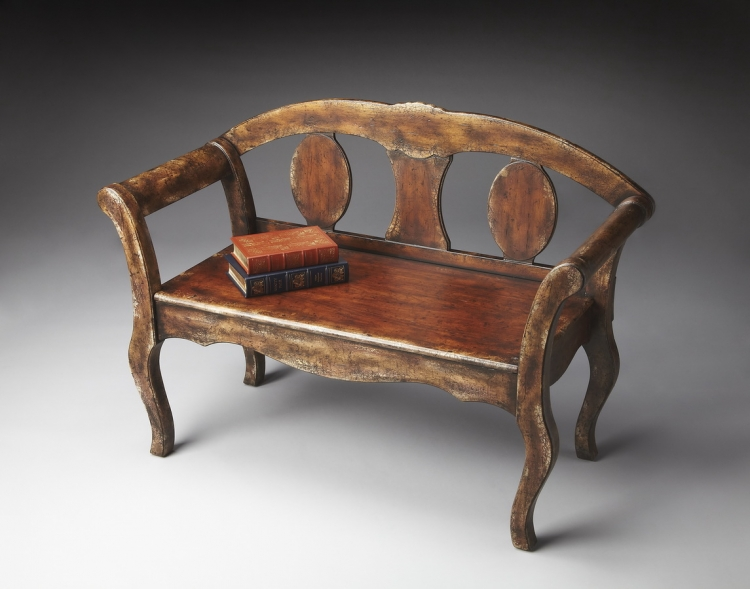 0560228 Tobacco Leaf Bench - Butler