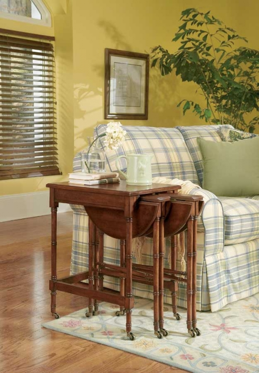 0564024 Plantation Cherry Nesting Tables - Butler