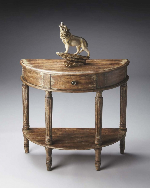 0667262 Demilune Console Table - River Walk