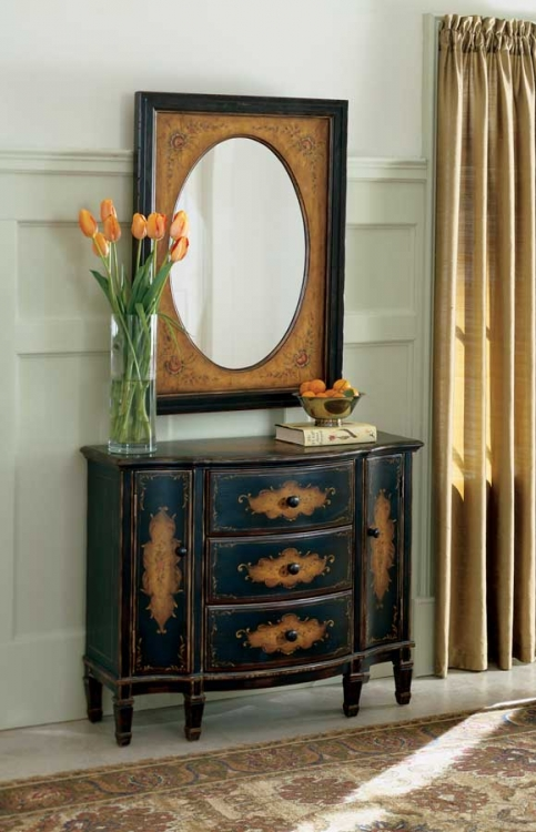 0674059 Coffee Hand Painted Console Cabinet - Butler