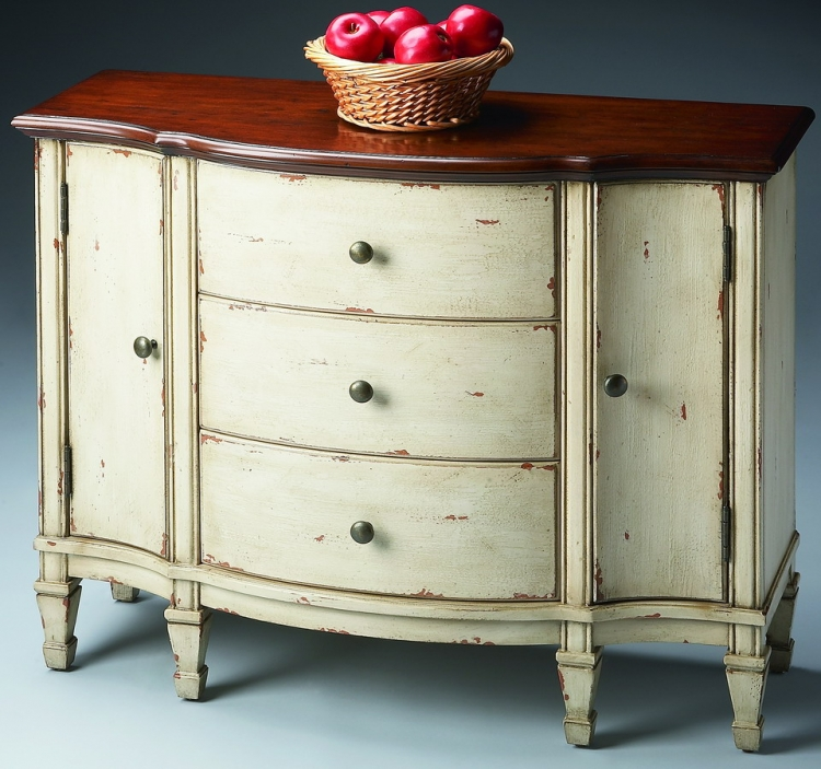 674115 Vanilla and Cherry Console Cabinet