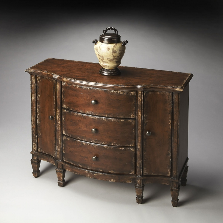 0674228 Console Cabinet - Tobacco Leaf