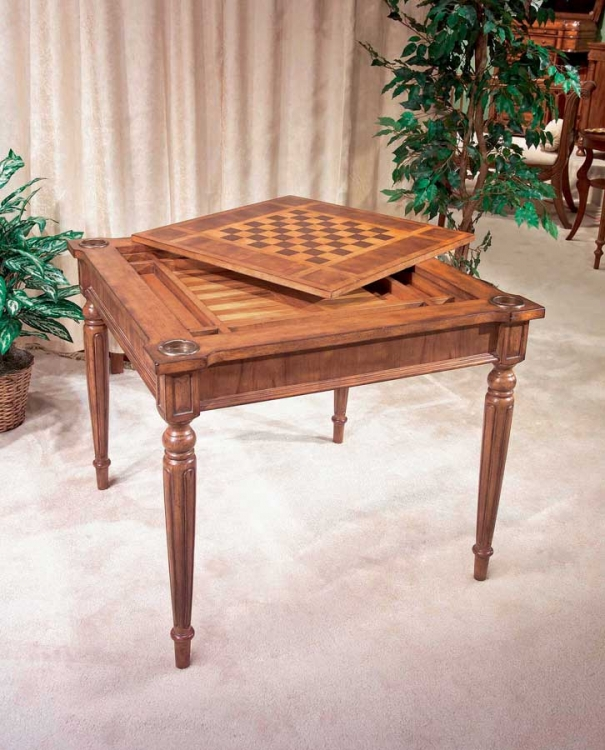 0837011 Antique Cherry Multi-game Card Table - Butler