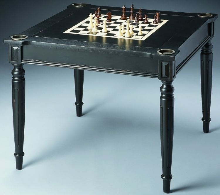 837111 Black Licorice Multi-game Card Table - Butler