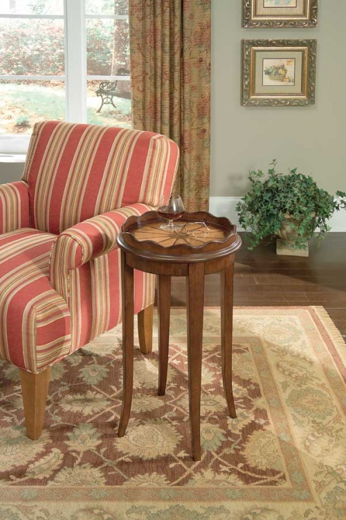 0995024 Plantation Cherry Accent Table