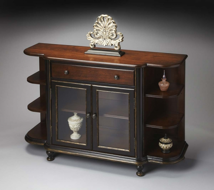 1227104 Display Console - Cafe Noir - Butler