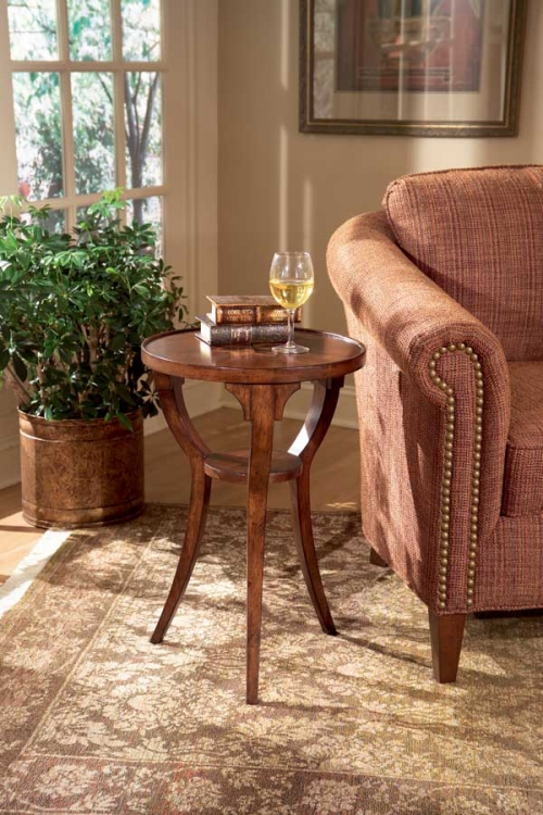 1328024 Plantation Cherry Round Accent Table - Butler