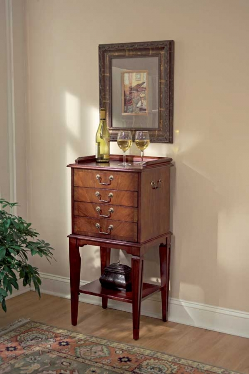1334024 Plantation Cherry Silver Chest - Butler