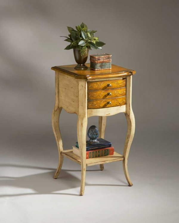 1375166 Pine n' Cream Accent Table