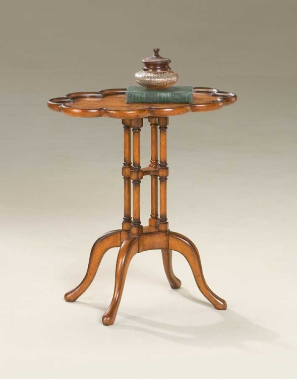 1387101 Olive Ash Burl Oval Accent Table - Butler