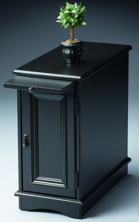 1476111 Black Licorice Chairside Chest