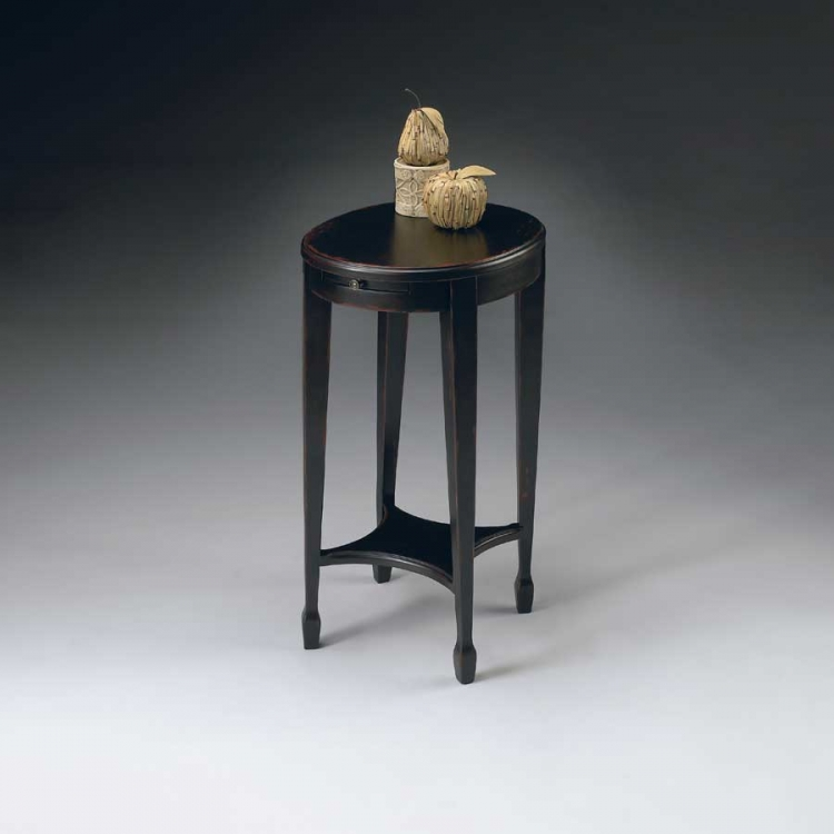 1483136 Plum Black Accent Table