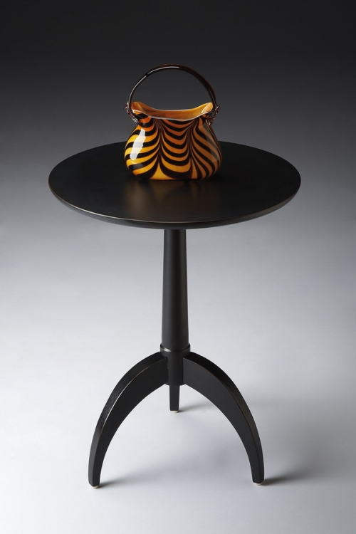 1488111 Black Licorice Pedestal Table - Butler