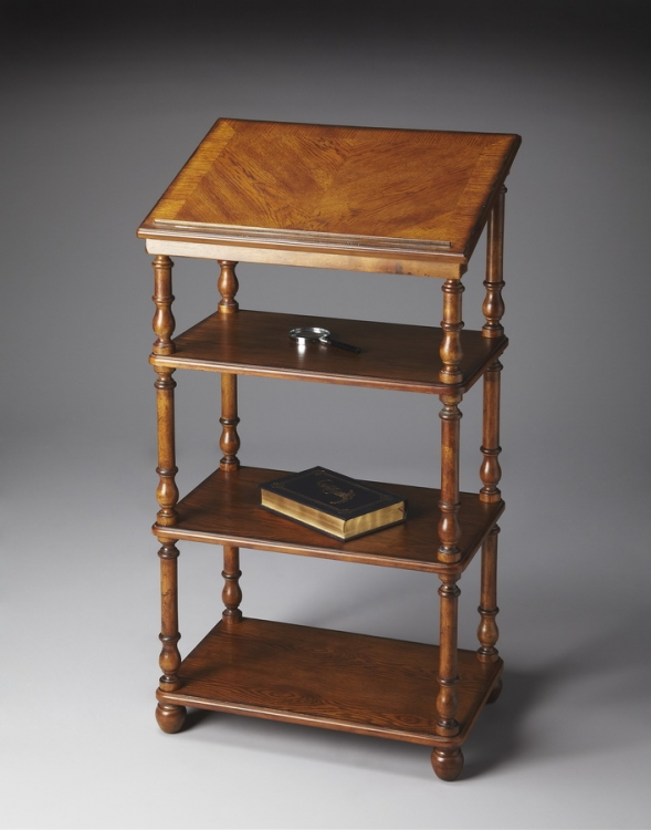 1512001 Vintage Oak Library Stand