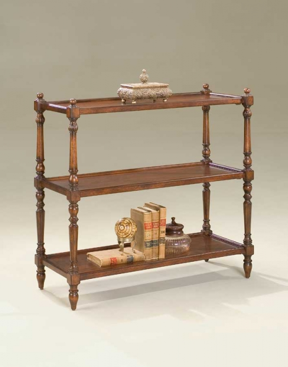 1530024 Plantation Cherry 3-tier Console Table