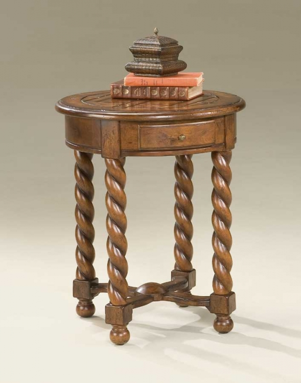 1546110 Castlewood Round Accent Table