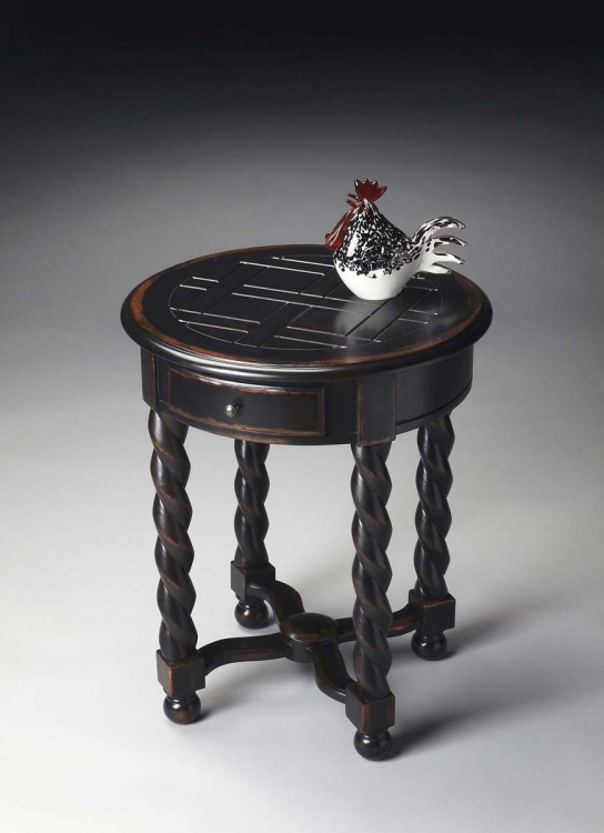 1546250 Round Accent Table - Midnight Rose
